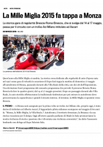La Mille Miglia 2015 fa tappa a Monza-1