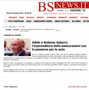 Addio a Roberto Gaburri, l'imprenditore delle assicurazioni con la passione per le auto - BsNews-1