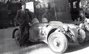 Allard J2 alla Mille Miglia 1951 dopo l'incidente